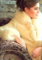 毛领长大衣