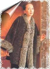 毛领短大衣