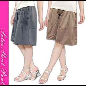 サテンショートパンツ(绸缎裙裤)