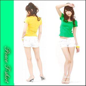 レディース新作ピースマークカラーTシャツ(新款时尚女式T恤)