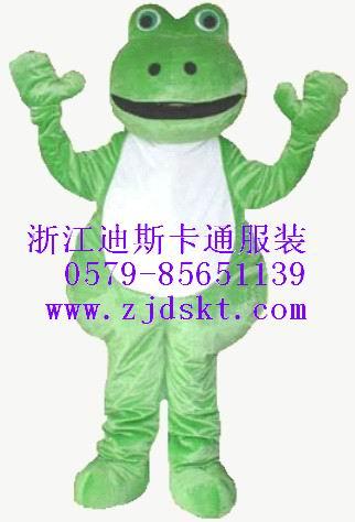 毛绒卡通服装、人偶服装、青蛙