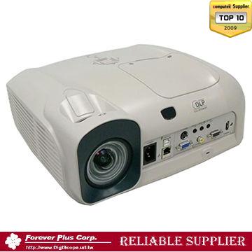超短焦明るさ3000lm高輝度DLP HD プロジェクター