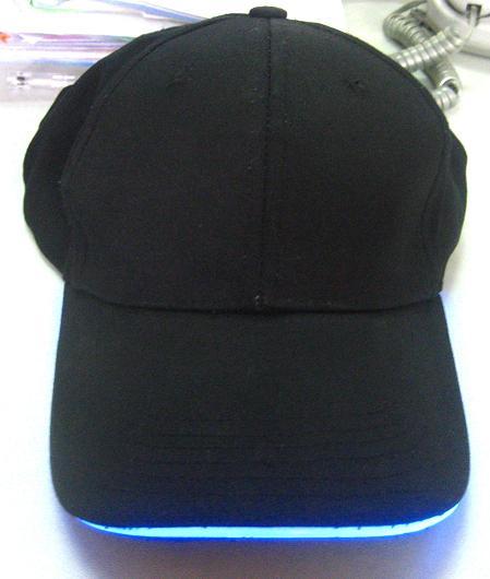帽檐管灯光纤帽