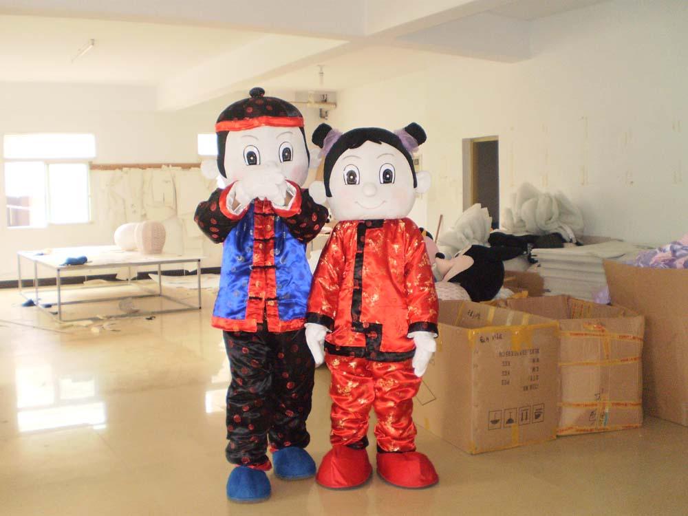 厂价米老鼠卡通服装/毛绒卡通服饰/上海人偶卡通服装金童玉女