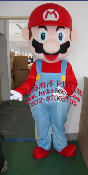 供应青岛海洋卡通服装,人偶服装,超级玛丽
