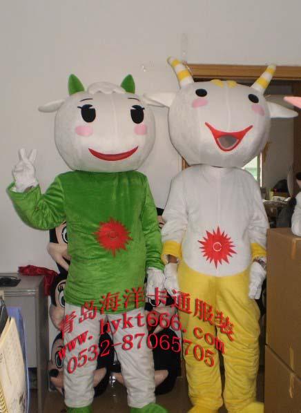 供应卡通服装,亚运会吉祥物