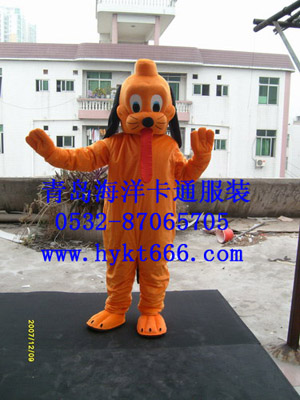 供应山东青岛海洋卡通人偶服装长舌狗