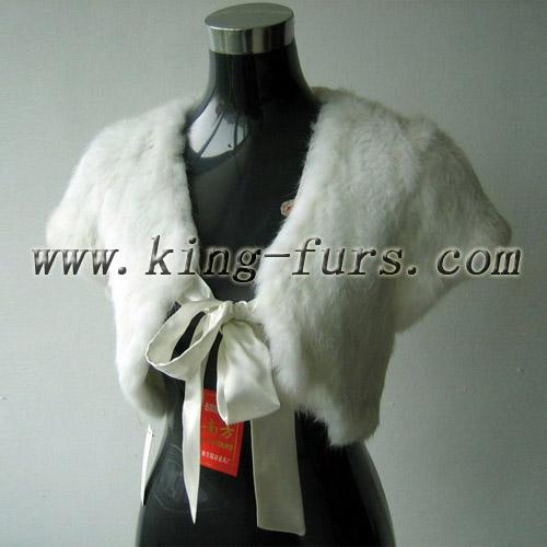 兔毛穿毛披肩(5fwc-028)