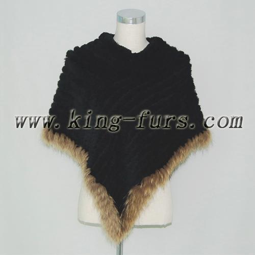 兔毛穿毛披肩(5fwc-081)