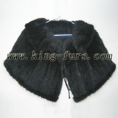 水貂穿毛披肩(5fwc-041-a)