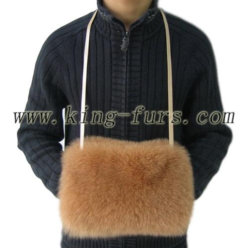 整皮狐狸毛包(6fwc-189)