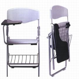 带写字板可折叠培训椅