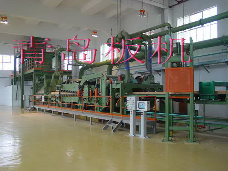 繊維板設備圧機ライン