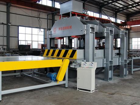 高精度铝蜂窝板压机组设备