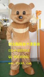 批发合肥卡通人偶,郑州表演服装小乳熊