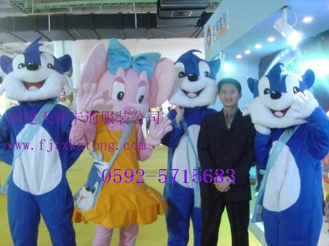 供应福建卡通人偶服装,卡通服装,蓝猫