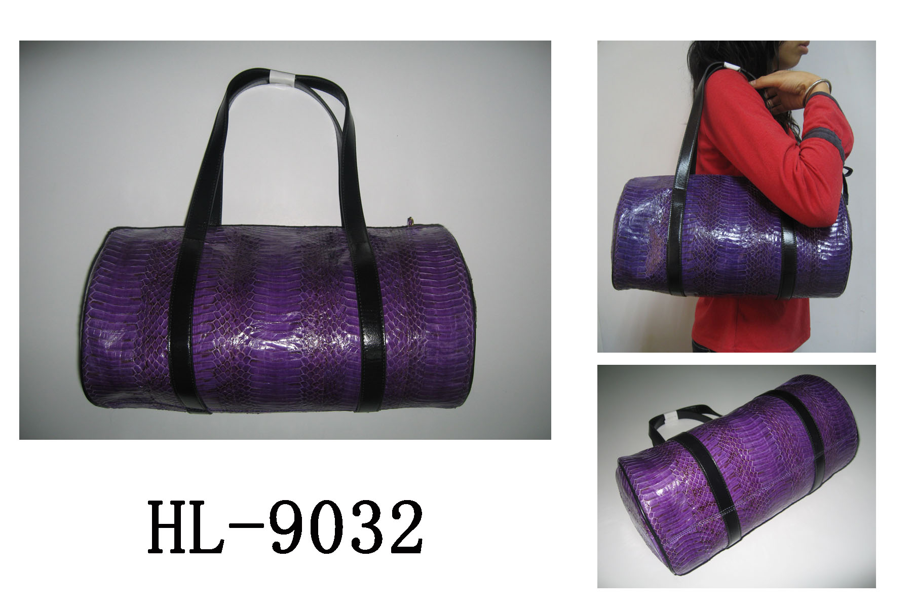 HL-9032真皮蛇皮手袋