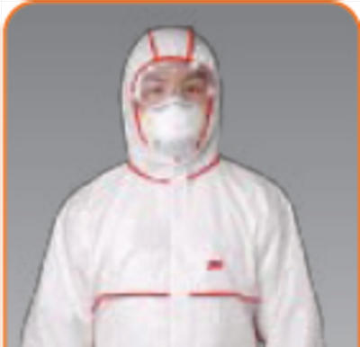 3M 4650白色带帽连体防护服