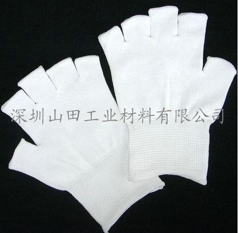 针织尼龙半指手套