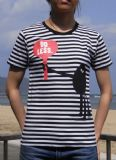 "Publik:  /  ""Do Less"" Border Striped T-shirt [Publik:  /  ""Do Less"" Border Striped T-shirt ]"
