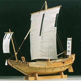 日本1比30木制日本老式木船模型 北前船 - 有限会社ア