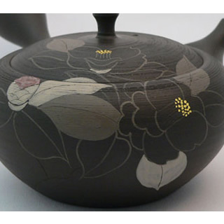 昭龙出品 扁圆形手绘茶壶 - 急须敬 - jchere日本商品